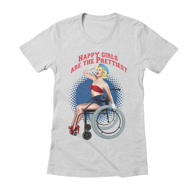 pinup_pretty girl Women's Fitted T-Shirt by gabifaveri's Artist Shop