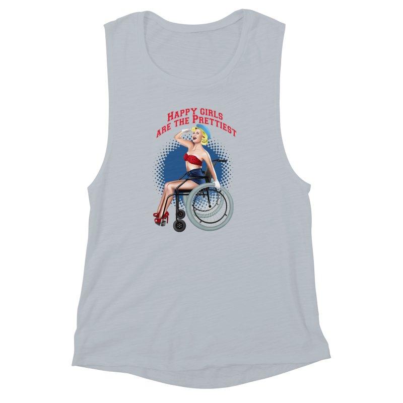 pinup_pretty girl Women's Muscle Tank by gabifaveri's Artist Shop
