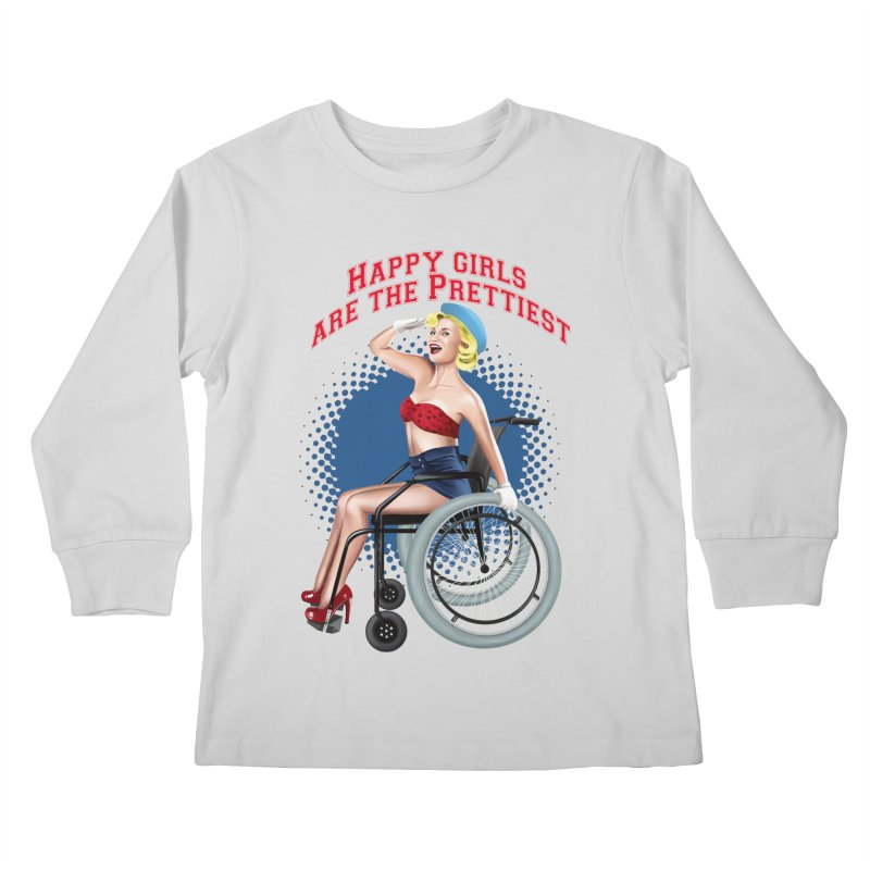 pinup_pretty girl Kids Longsleeve T-Shirt by gabifaveri's Artist Shop