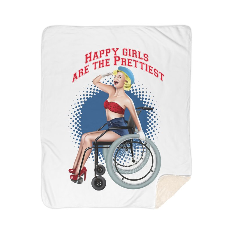 pinup_pretty girl Home Sherpa Blanket Blanket by gabifaveri's Artist Shop