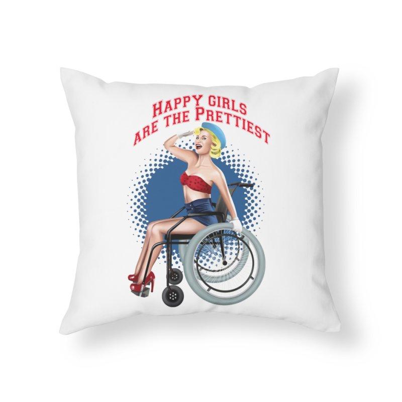 pinup_pretty girl Home Throw Pillow by gabifaveri's Artist Shop