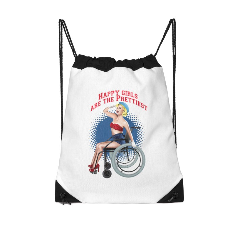 pinup_pretty girl Accessories Drawstring Bag Bag by gabifaveri's Artist Shop