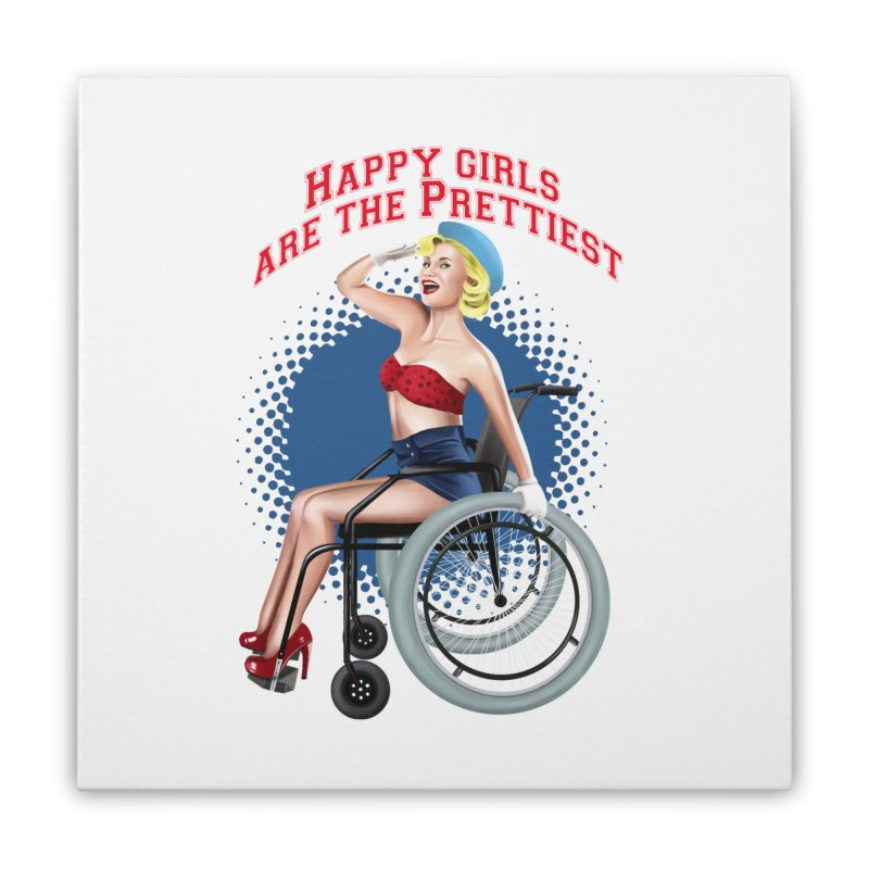 pinup_pretty girl Home Stretched Canvas by gabifaveri's Artist Shop