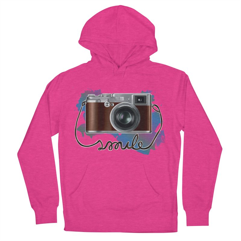 camera_smile Women's French Terry Pullover Hoody by gabifaveri's Artist Shop