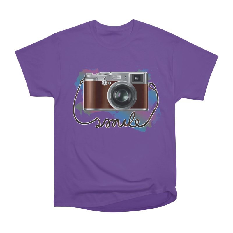 camera_smile Women's Heavyweight Unisex T-Shirt by gabifaveri's Artist Shop