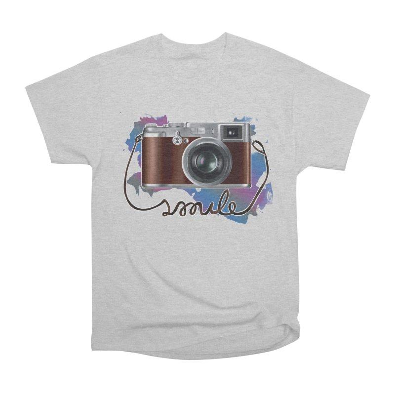 camera_smile Men's Heavyweight T-Shirt by gabifaveri's Artist Shop