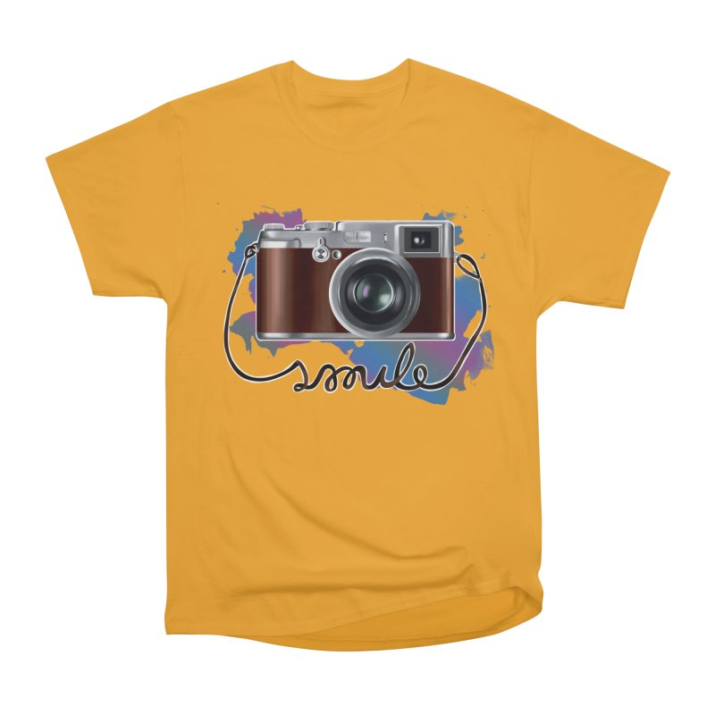 camera_smile Men's Heavyweight T-Shirt by gabifaveri's Artist Shop