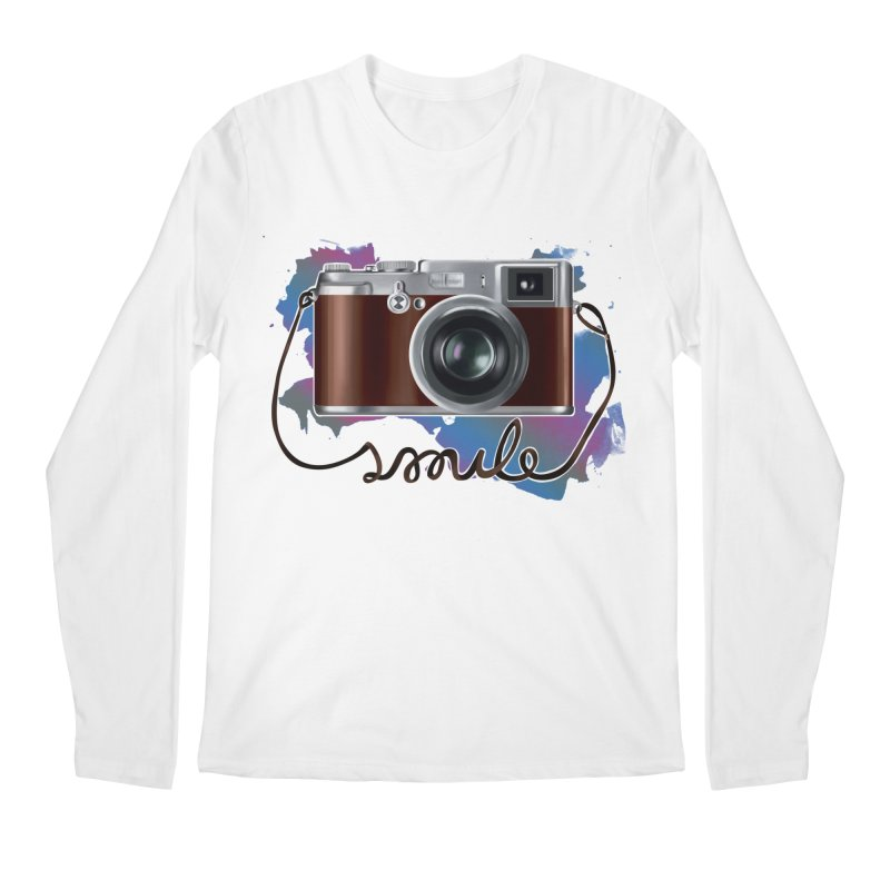 camera_smile Men's Regular Longsleeve T-Shirt by gabifaveri's Artist Shop