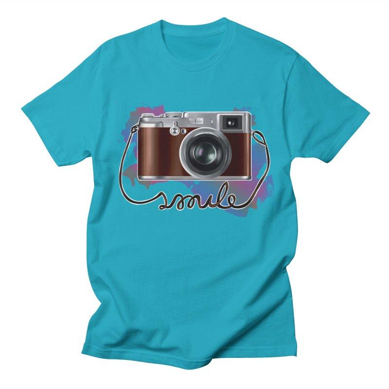 camera_smile Women's Regular Unisex T-Shirt by gabifaveri's Artist Shop