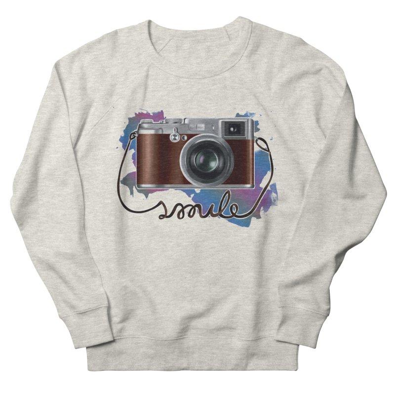 camera_smile Men's French Terry Sweatshirt by gabifaveri's Artist Shop