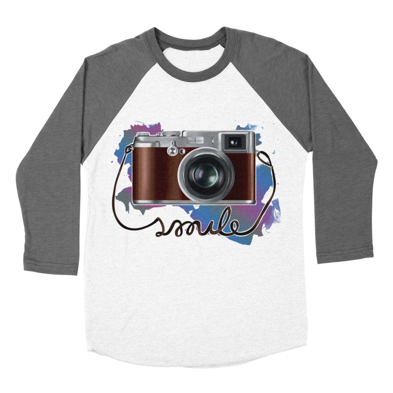 camera_smile Women's Baseball Triblend Longsleeve T-Shirt by gabifaveri's Artist Shop