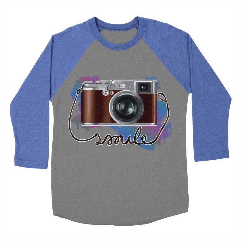 camera_smile Women's Baseball Triblend T-Shirt by gabifaveri's Artist Shop