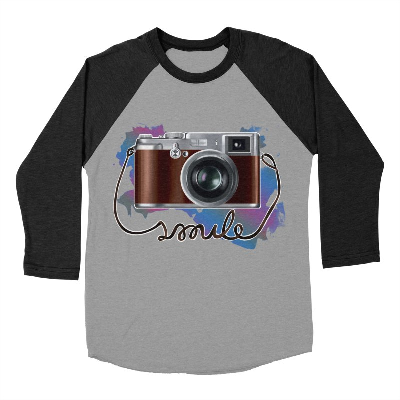 camera_smile Women's Baseball Triblend Longsleeve T-Shirt by gabifaveri's Artist Shop