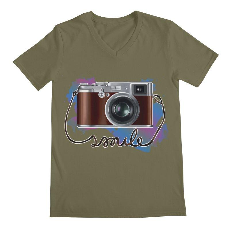 camera_smile Men's V-Neck by gabifaveri's Artist Shop