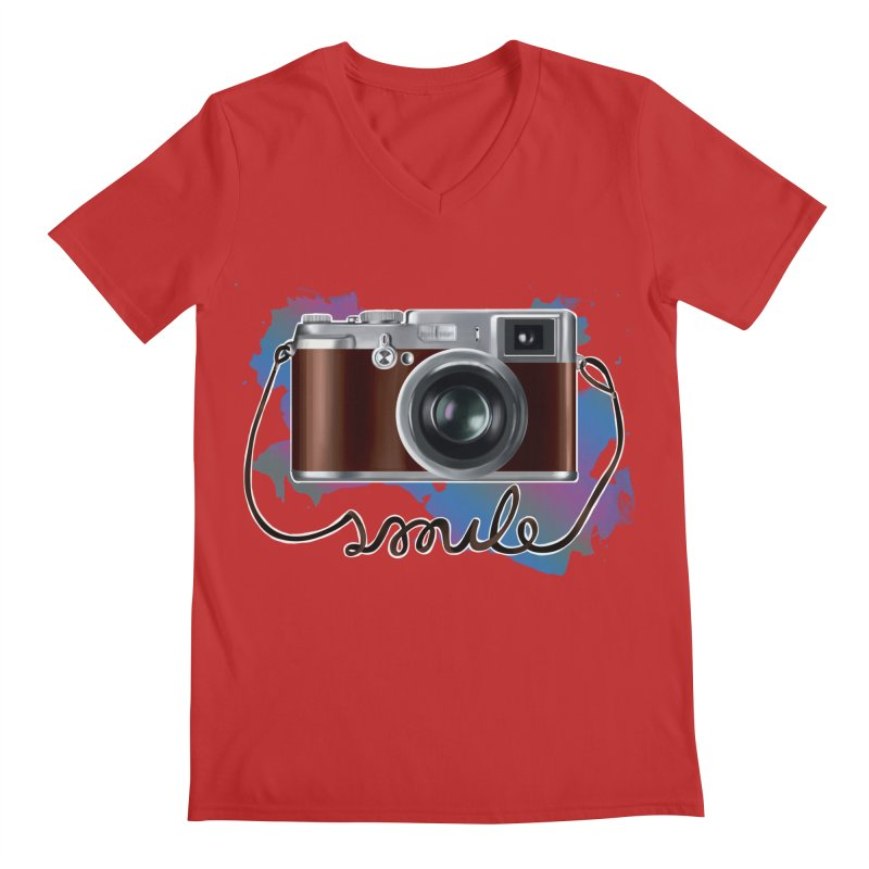 camera_smile Men's Regular V-Neck by gabifaveri's Artist Shop