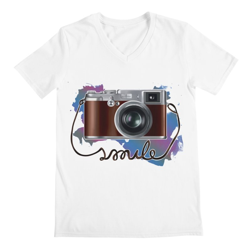 camera_smile Men's Regular V-Neck by gabifaveri's Artist Shop