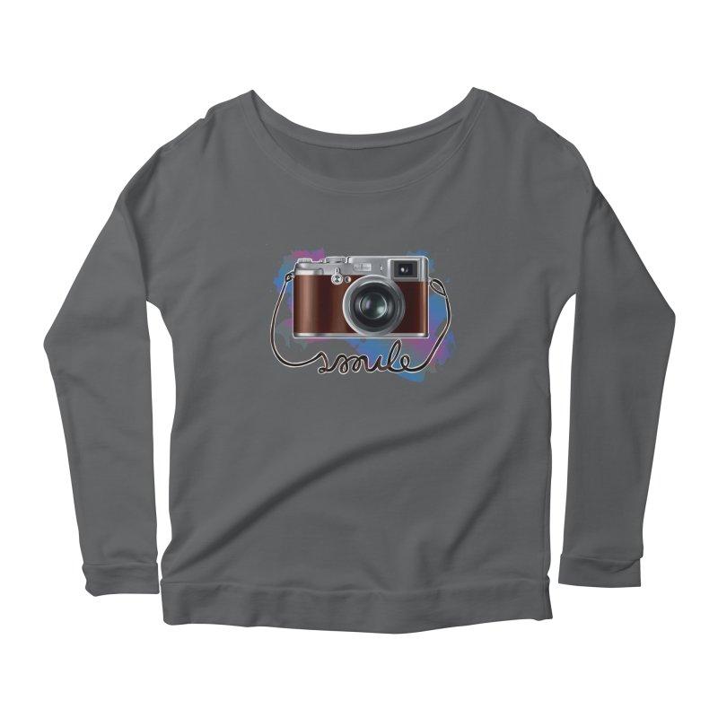 camera_smile Women's Scoop Neck Longsleeve T-Shirt by gabifaveri's Artist Shop