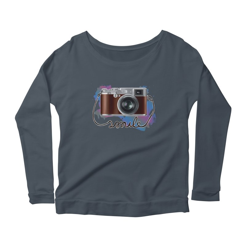 camera_smile Women's Scoop Neck Longsleeve T-Shirt by gabifaveri's Artist Shop