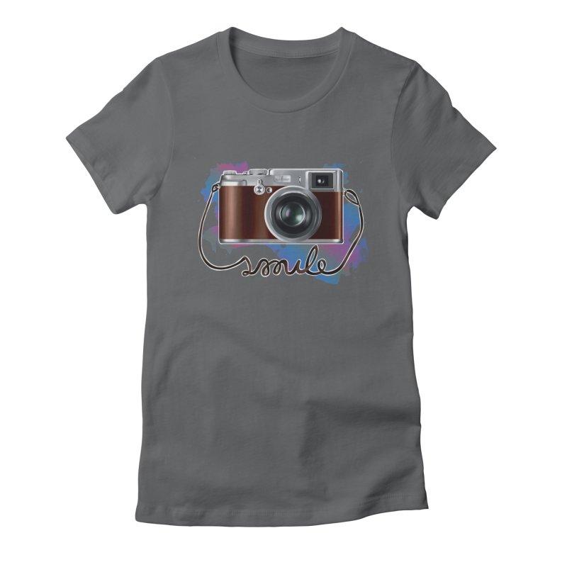 camera_smile Women's Fitted T-Shirt by gabifaveri's Artist Shop