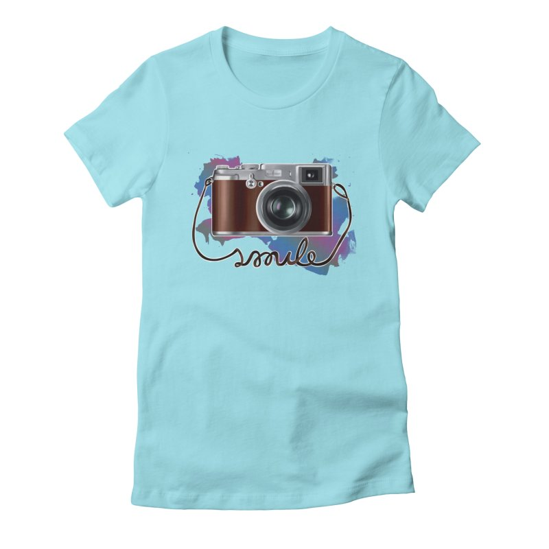 camera_smile Women's Fitted T-Shirt by gabifaveri's Artist Shop