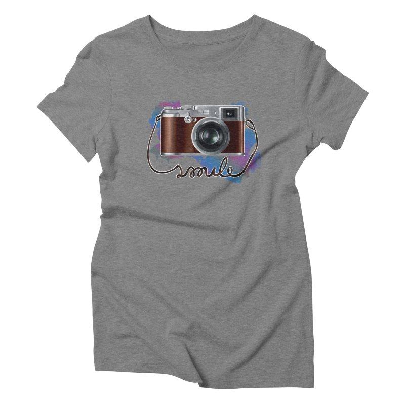 camera_smile Women's Triblend T-Shirt by gabifaveri's Artist Shop