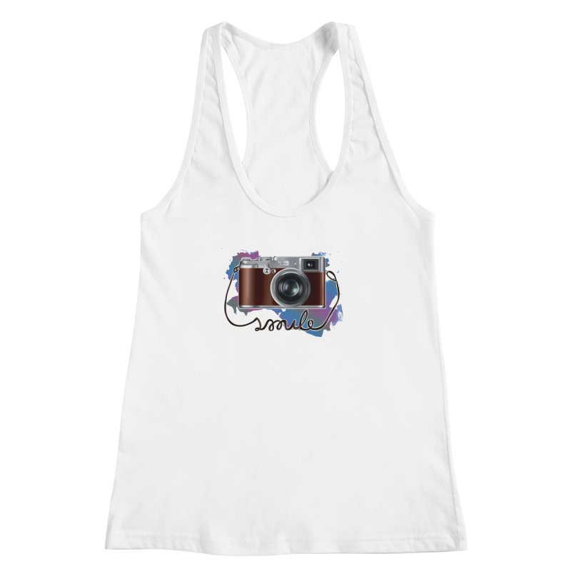 camera_smile Women's Racerback Tank by gabifaveri's Artist Shop