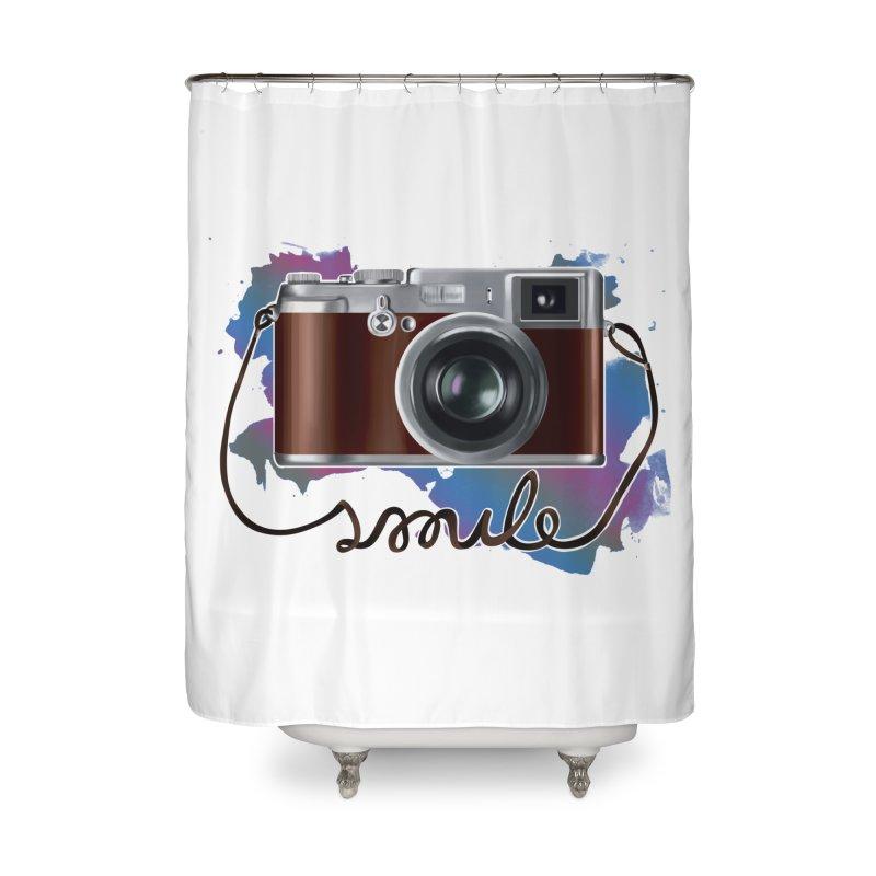 camera_smile Home Shower Curtain by gabifaveri's Artist Shop
