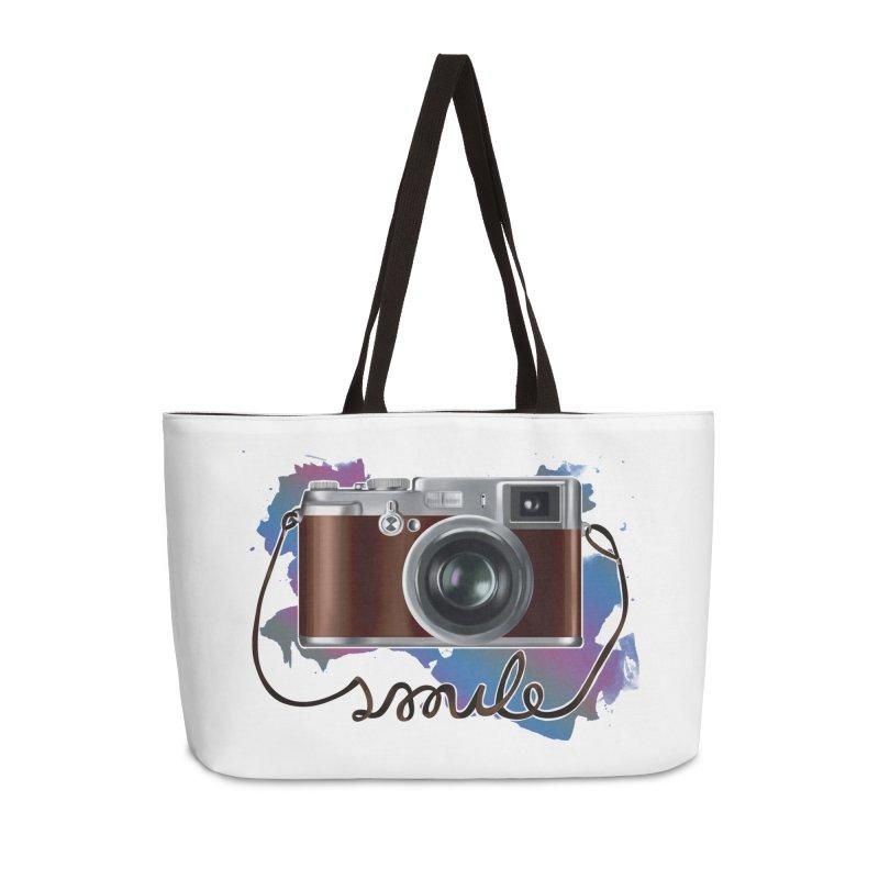 camera_smile Accessories Weekender Bag Bag by gabifaveri's Artist Shop