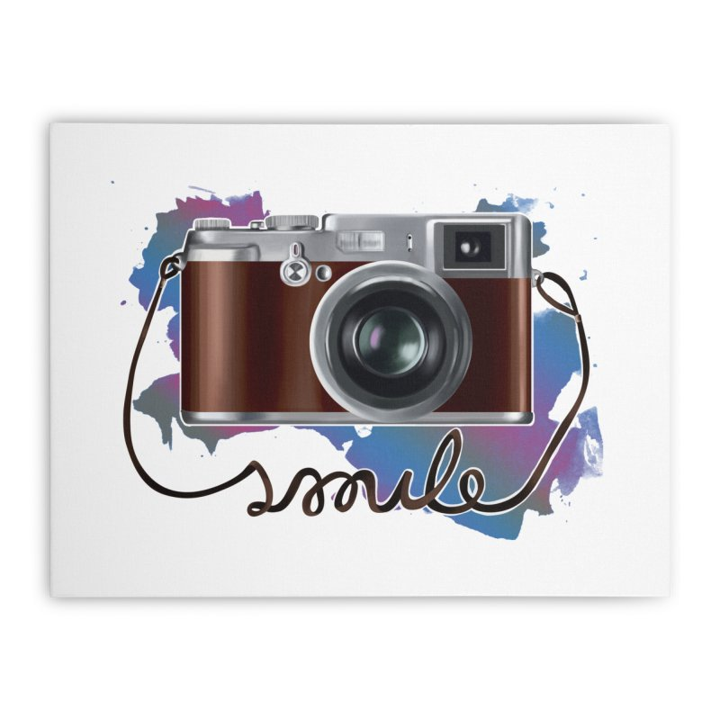 camera_smile Home Stretched Canvas by gabifaveri's Artist Shop