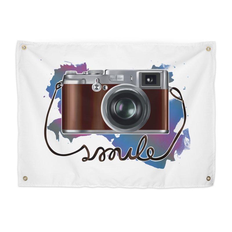 camera_smile Home Tapestry by gabifaveri's Artist Shop