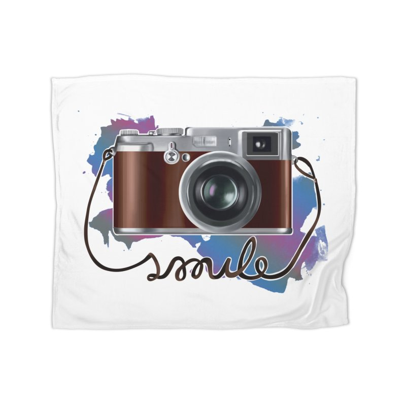 camera_smile Home Fleece Blanket Blanket by gabifaveri's Artist Shop