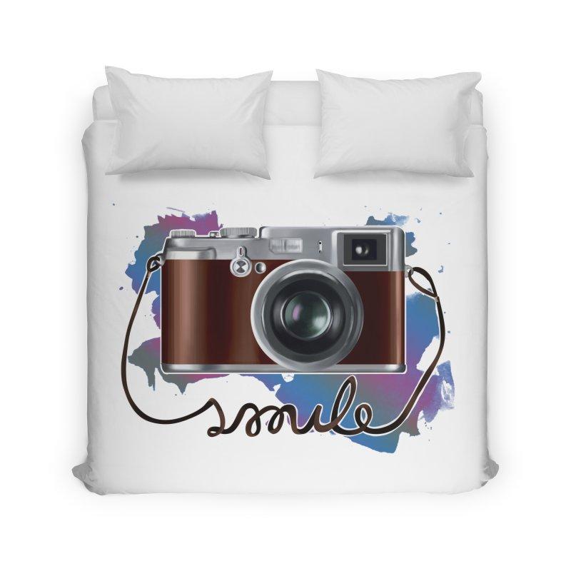 camera_smile Home Duvet by gabifaveri's Artist Shop