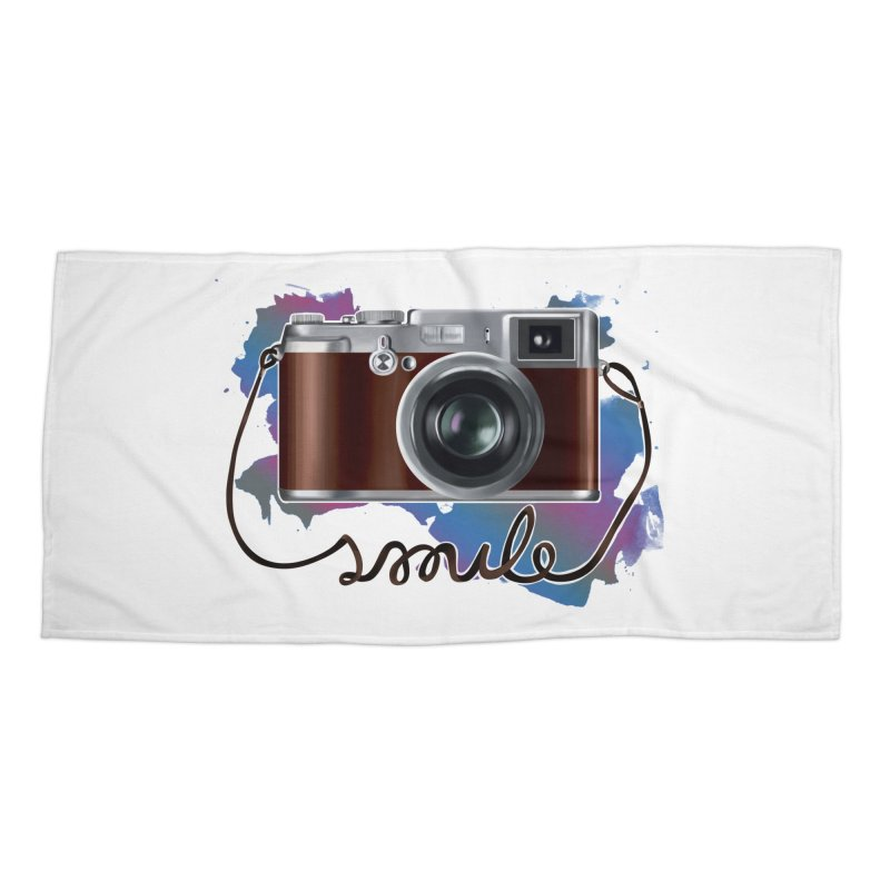 camera_smile Accessories Beach Towel by gabifaveri's Artist Shop