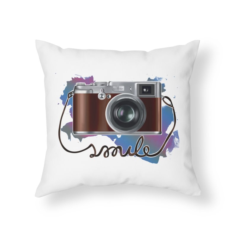 camera_smile Home Throw Pillow by gabifaveri's Artist Shop