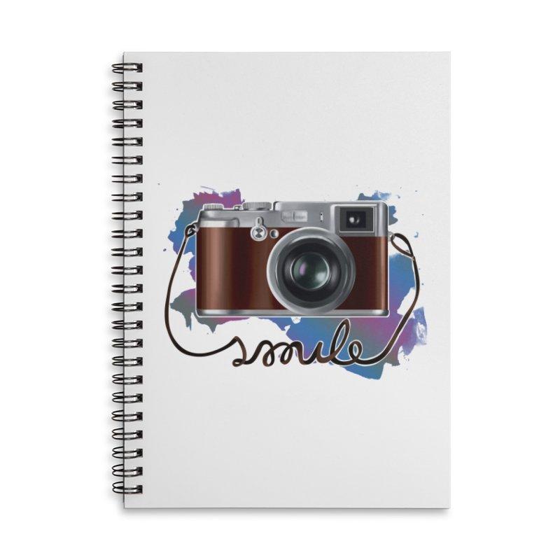 camera_smile Accessories Lined Spiral Notebook by gabifaveri's Artist Shop
