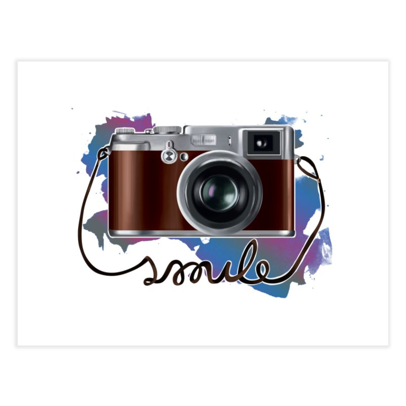 camera_smile Home Fine Art Print by gabifaveri's Artist Shop