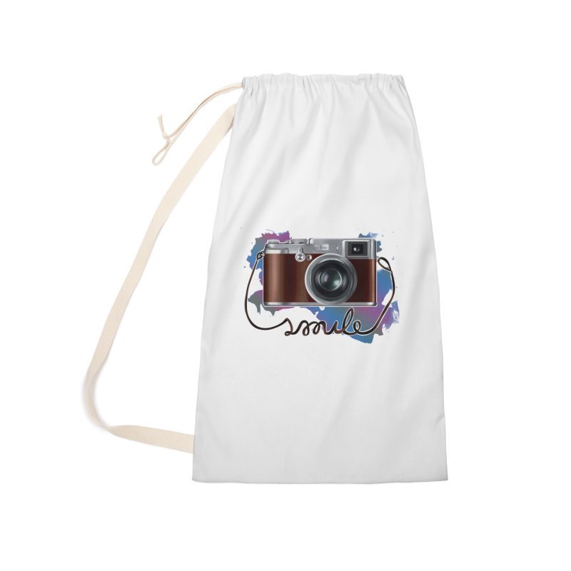 camera_smile Accessories Laundry Bag Bag by gabifaveri's Artist Shop