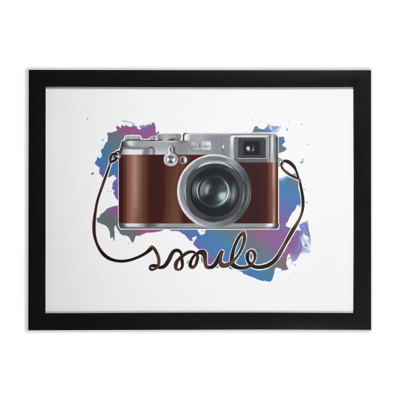 camera_smile Home Framed Fine Art Print by gabifaveri's Artist Shop