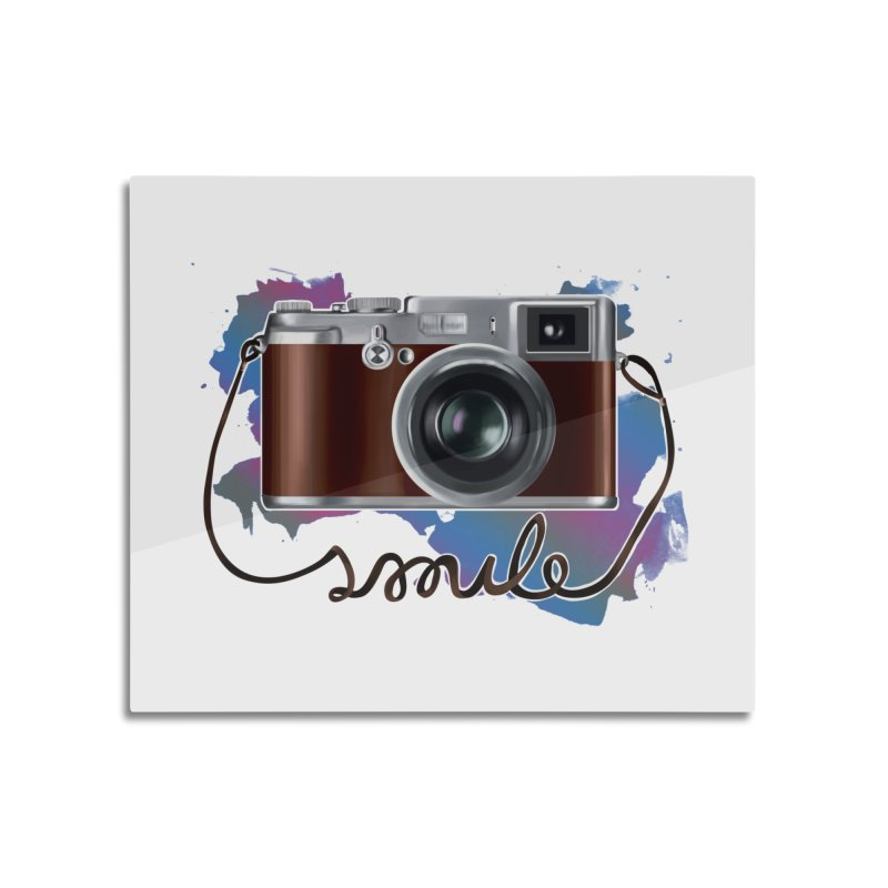 camera_smile Home Mounted Acrylic Print by gabifaveri's Artist Shop