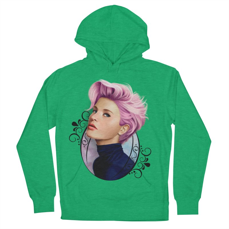 hair pink Men's French Terry Pullover Hoody by gabifaveri's Artist Shop
