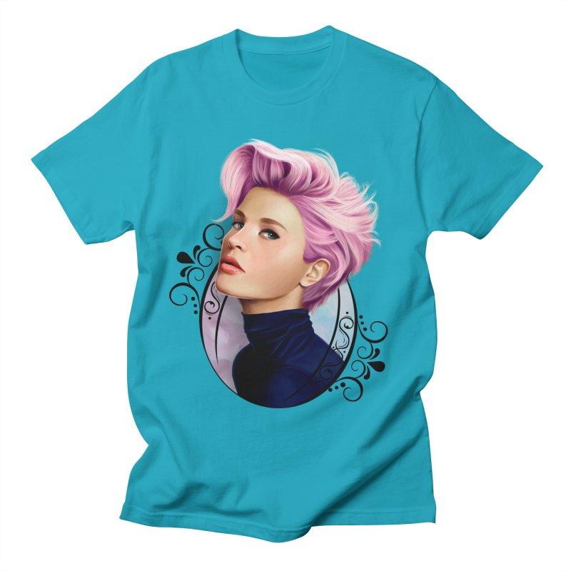 hair pink Men's Regular T-Shirt by gabifaveri's Artist Shop