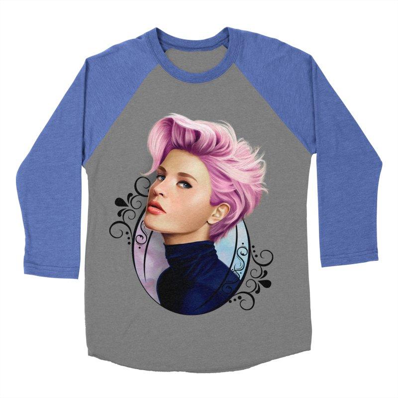hair pink Women's Baseball Triblend Longsleeve T-Shirt by gabifaveri's Artist Shop