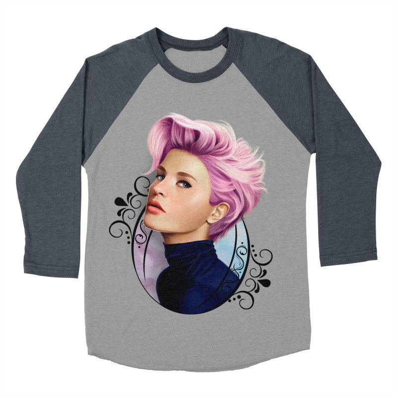 hair pink Men's Baseball Triblend Longsleeve T-Shirt by gabifaveri's Artist Shop