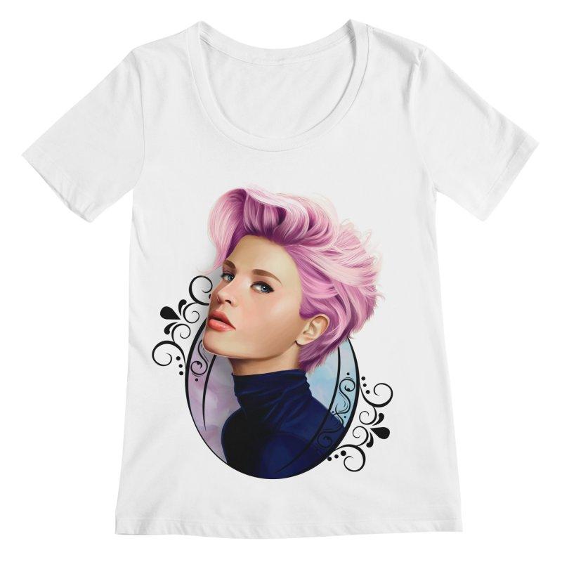 hair pink Women's Regular Scoop Neck by gabifaveri's Artist Shop
