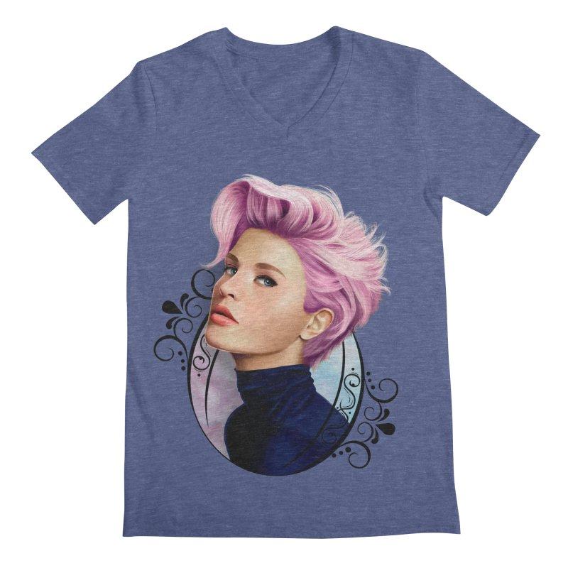hair pink Men's V-Neck by gabifaveri's Artist Shop