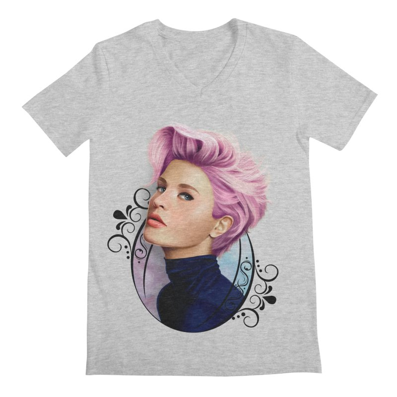 hair pink Men's Regular V-Neck by gabifaveri's Artist Shop