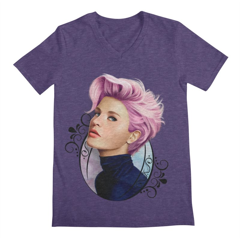 hair pink Men's Regular V-Neck by gabifaveri's Artist Shop