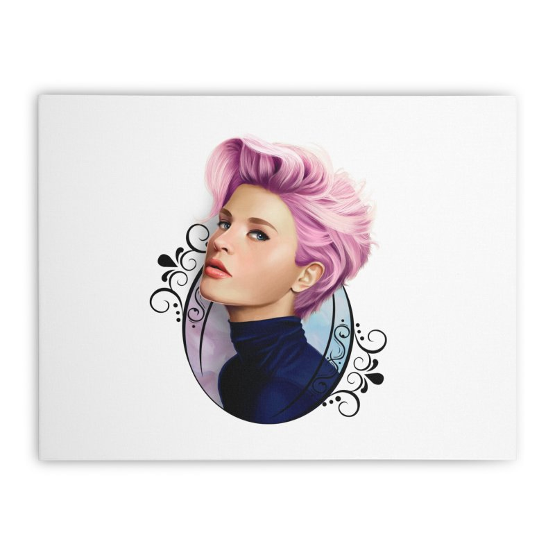 hair pink Home Stretched Canvas by gabifaveri's Artist Shop