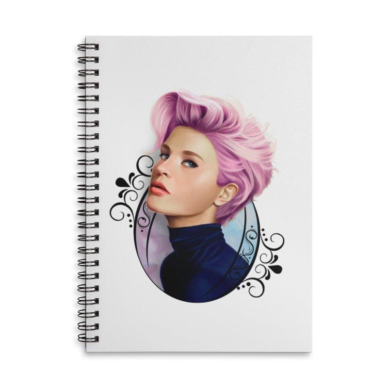 hair pink Accessories Lined Spiral Notebook by gabifaveri's Artist Shop