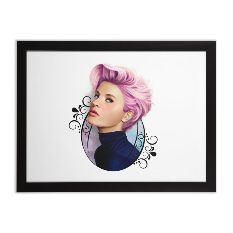 hair pink Home Framed Fine Art Print by gabifaveri's Artist Shop